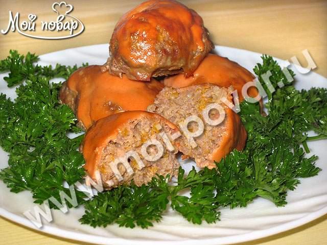 Котлеты из свинины с тыквой