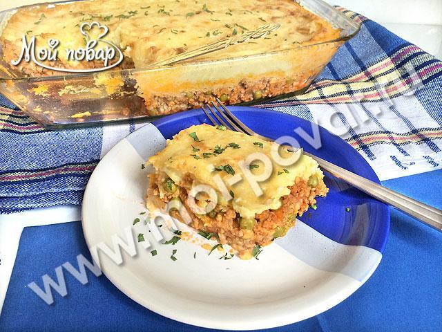 Картофельная запеканка с фаршем (пастуший пирог)