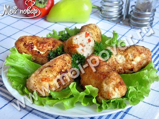 Куриные котлеты с болгарским перцем