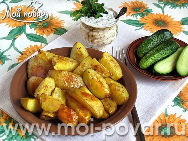 Молодой картофель, запеченный в духовке