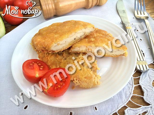Куриное филе в сырной хрустящей корочке