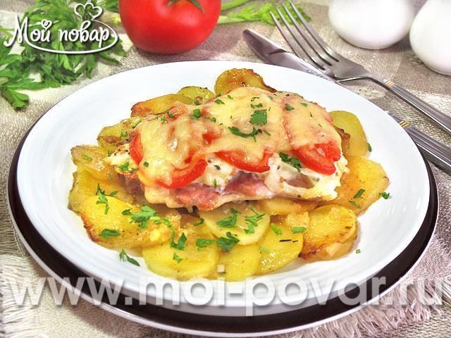 Куриные бедра по-французски, запеченные с картофелем